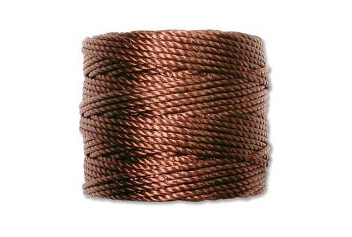 Super-Lon Bead Tex 400 Cord 0,90mm, 32mt., Brown SL1-BR