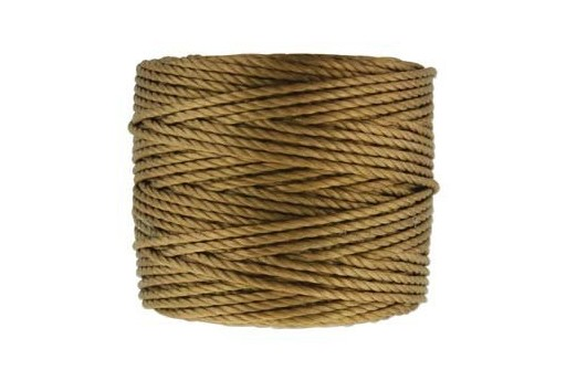 Super-Lon Bead Tex 400 Cord 0,90mm, 32mt., Medium Brown SL1-MBR