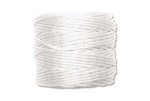 Super-Lon Bead Tex 400 Cord 0,90mm, 32mt., White SL1-WH