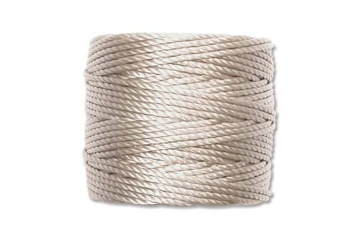 Super-Lon Bead Tex 400 Cord 0,90mm, 32mt., Light Grey SL1-LGY
