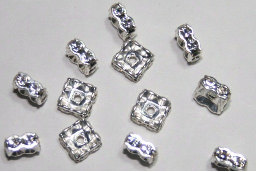 Swarovski Square Spacer 6mm - 2pcs