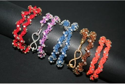 2-Strand Spiral Macrame Neon Red - Bracelet Kit