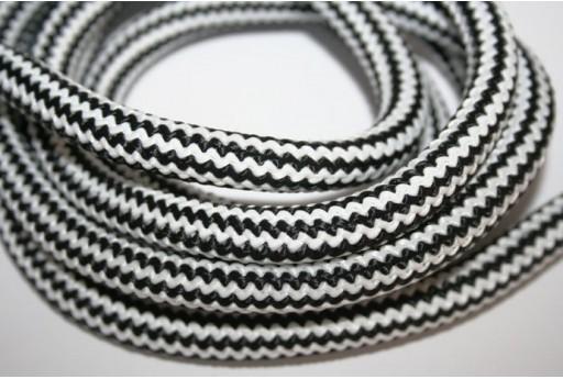 1mt. Climbing Cord 10mm Intrecciato Bianco/Nero Cod.CC-58A