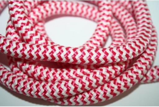 Climbing Cord Intrecciato Fuchsia/Bianco 10mm - 1mt