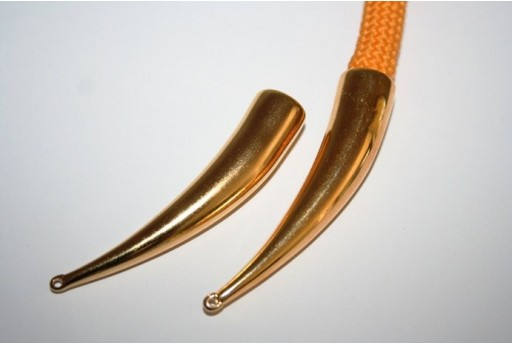 Climbing Long Gold Left Cord End Cap 66x14mm - 1pc