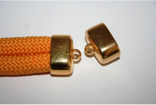 Climbing 2-Strand Gold Cord End Cap 17x23mm - 1pc