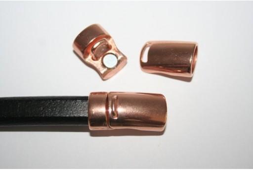 Chiusura Magnetica Colore Oro Rosa 7x10mm - 1pz