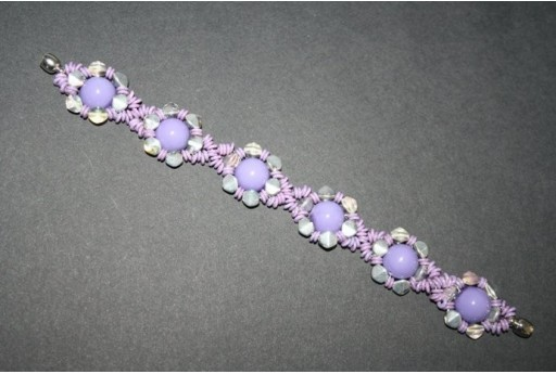 Pinch and Dome Beads Light Plum - Bracelet Kit