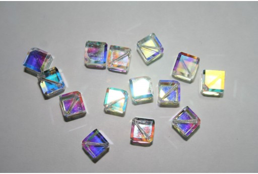 Swarovski Diagonal Cubes 6mm Crystal - 2pcs