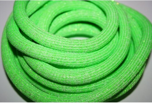 Glitter Climbing Cord Green 10mm - 1mt