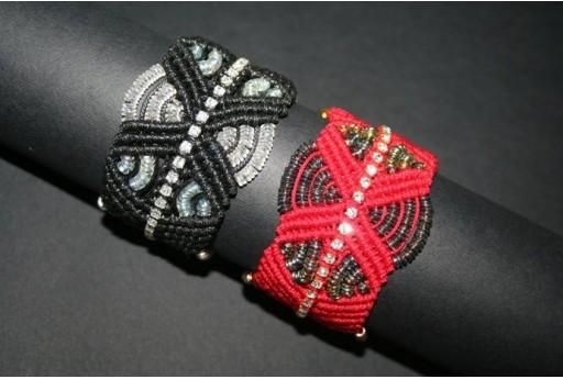 Red Macrame Band Bracelet Kit