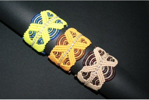 Neon Yellow Macrame Band Bracelet Kit