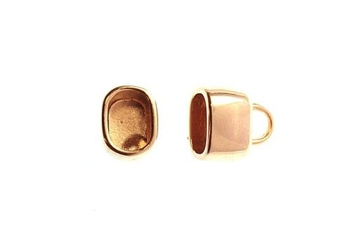 Rose Gold Plated Regaliz End Cap 14x14cm - pcs MIN178F