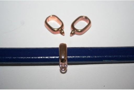 Rose Gold Plated Regaliz Slider Bails 17X5cm - 2pcs MIN171A