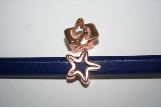 Rose Gold Plated Regaliz Copper Star Bead 16x16mm - 1pc MIN171E