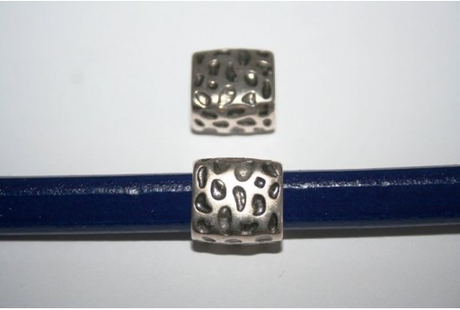 Regaliz Silver Slider Tube Bead 15X14cm, 1pc, MIN179E
