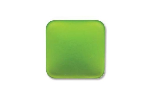 Luna Soft Cabochon Rhomb 17mm., Green - 1pz