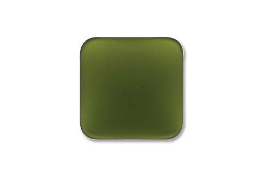 Cabochon Luna Soft Rombo Verde Oliva 17mm - 1pz