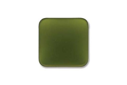 Cabochon Luna Soft Rombo 17mm., Verde Oliva Cod.LUN01F