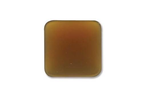 Luna Soft Cabochon Rhomb 17mm., Brown - 1pz