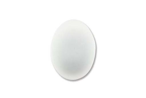 Cabochon Luna Soft Ovale Bianco 18,5x13,5mm - 1pz