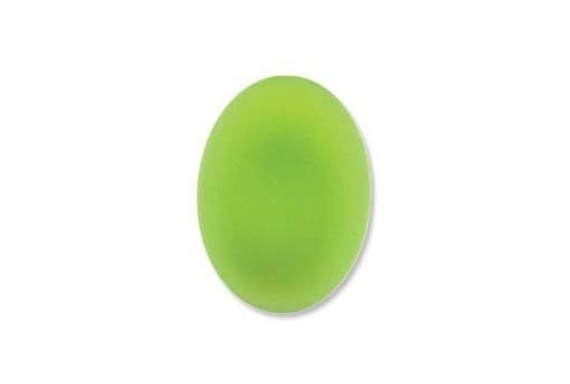Cabochon Luna Soft Ovale Verde 18,5x13,5mm - 1pz