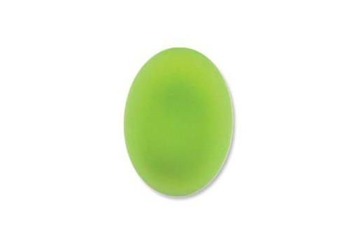 Cabochon Luna Soft Ovale Verde 18,5x13,5mm - 2pz