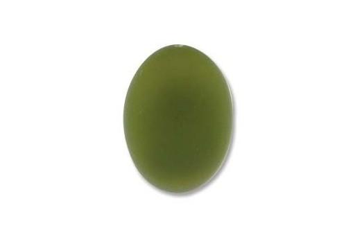 Cabochon Luna Soft Ovale Verde Oliva 18,5x13,5mm - 1pz