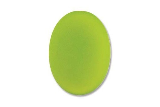 Luna Soft Cabochon Oval 25X18mm., Green - 1pz