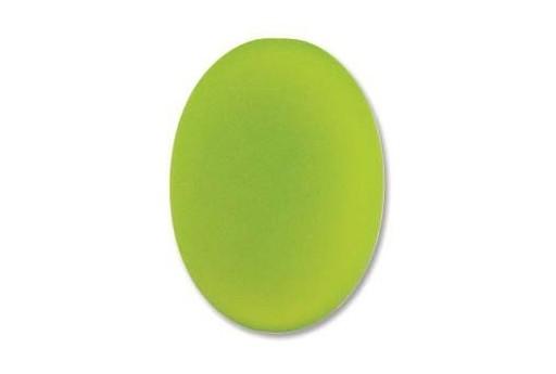 Cabochon Luna Soft Ovale Verde 25X18mm - 1pz