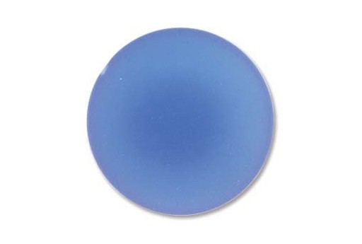 Luna Soft Cabochon Round 24mm., Blue - 1pz