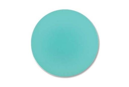 Luna Soft Cabochon Round 24mm., Aquamarine - 1pz