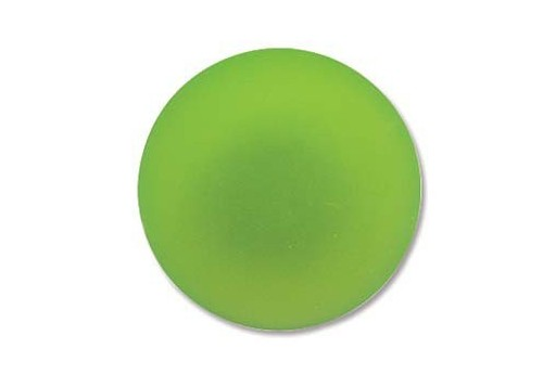 Luna Soft Cabochon Round 24mm., Green - 1pz