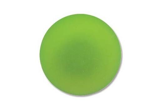 Luna Soft Cabochon Round 24mm., Green - 1pz