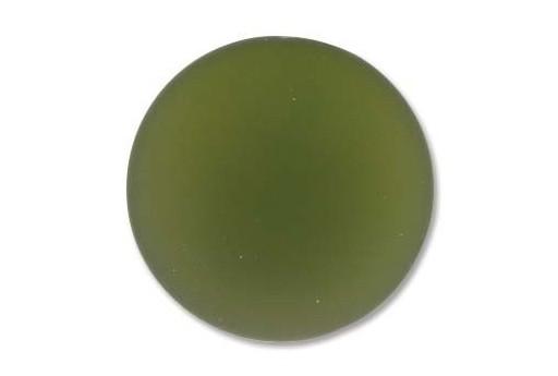 Cabochon Luna Soft Tondo Verde Oliva 24mm - 1pz