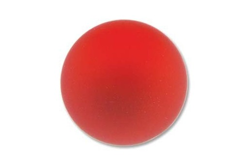 Luna Soft Cabochon Round 24mm., Red - 1pz