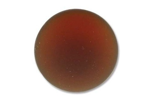 Luna Soft Cabochon Round 24mm., Brown - 1pz