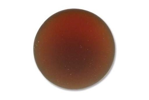 Cabochon Luna Soft Tondo 24mm., Marrone Cod.LUN04N
