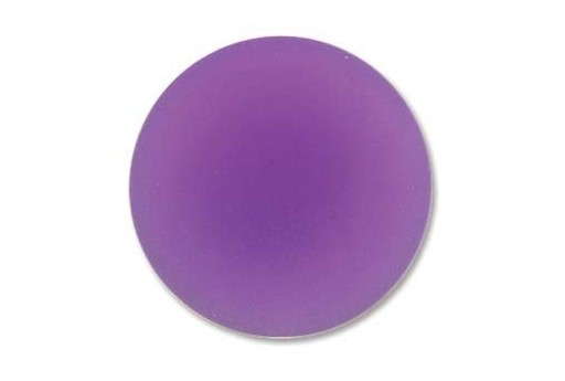 Cabochon Luna Soft Tondo 24mm., Viola Cod.LUN04P