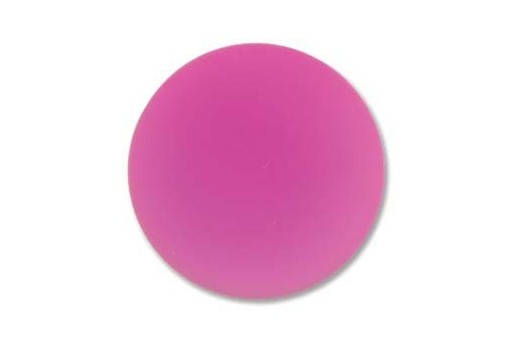 Luna Soft Cabochon Round 24mm., Fuchsia - 1pz