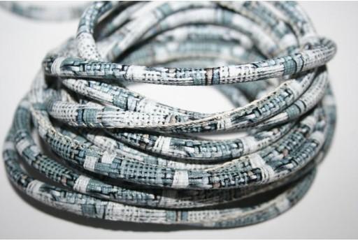 Ethnic Round Cotton Cord 5mm Blue - 1m COR01B