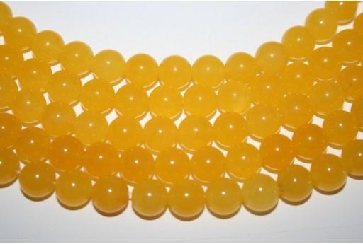 Jade Beads Yellow Sphere 10mm - 38pz GI293