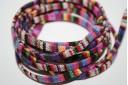 Corda Etnica Piatta 5mm, Fantasia Multicolor 1mt., Cod.COR02C