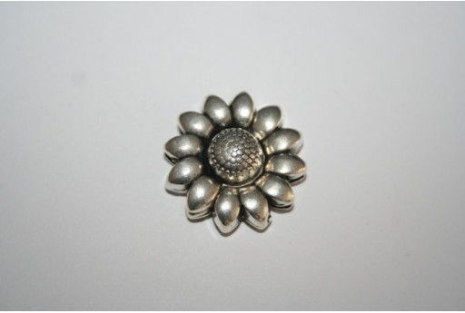 Chiusura Magnetica Fiore 25mm, Colore Argento 1pz., Cod.MIN182