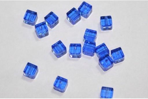 Cubi Swarovski Sapphire 4mm - 2pz