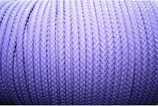 Korean Waxed Cord 6mm Purple - 1m COR03C