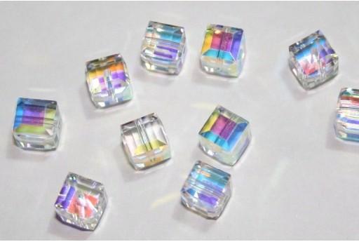 Cubi Swarovski Crystal Aurora Boreale 6mm - 2pz