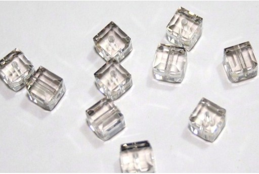 Cubi Swarovski Crystal Silver Shade 6mm - 2pz