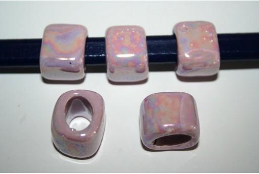 Perline Ceramica Regaliz 18x16mm, Lilla 2pz., Cod.CER5A