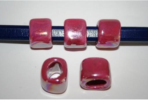 Perline Ceramica Regaliz 18x16mm, Fuchsia 2pz., Cod.CER5F